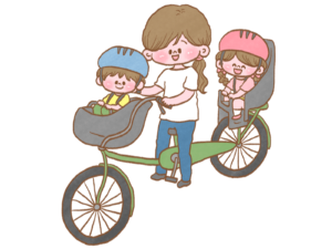 子ども2人乗り自転車