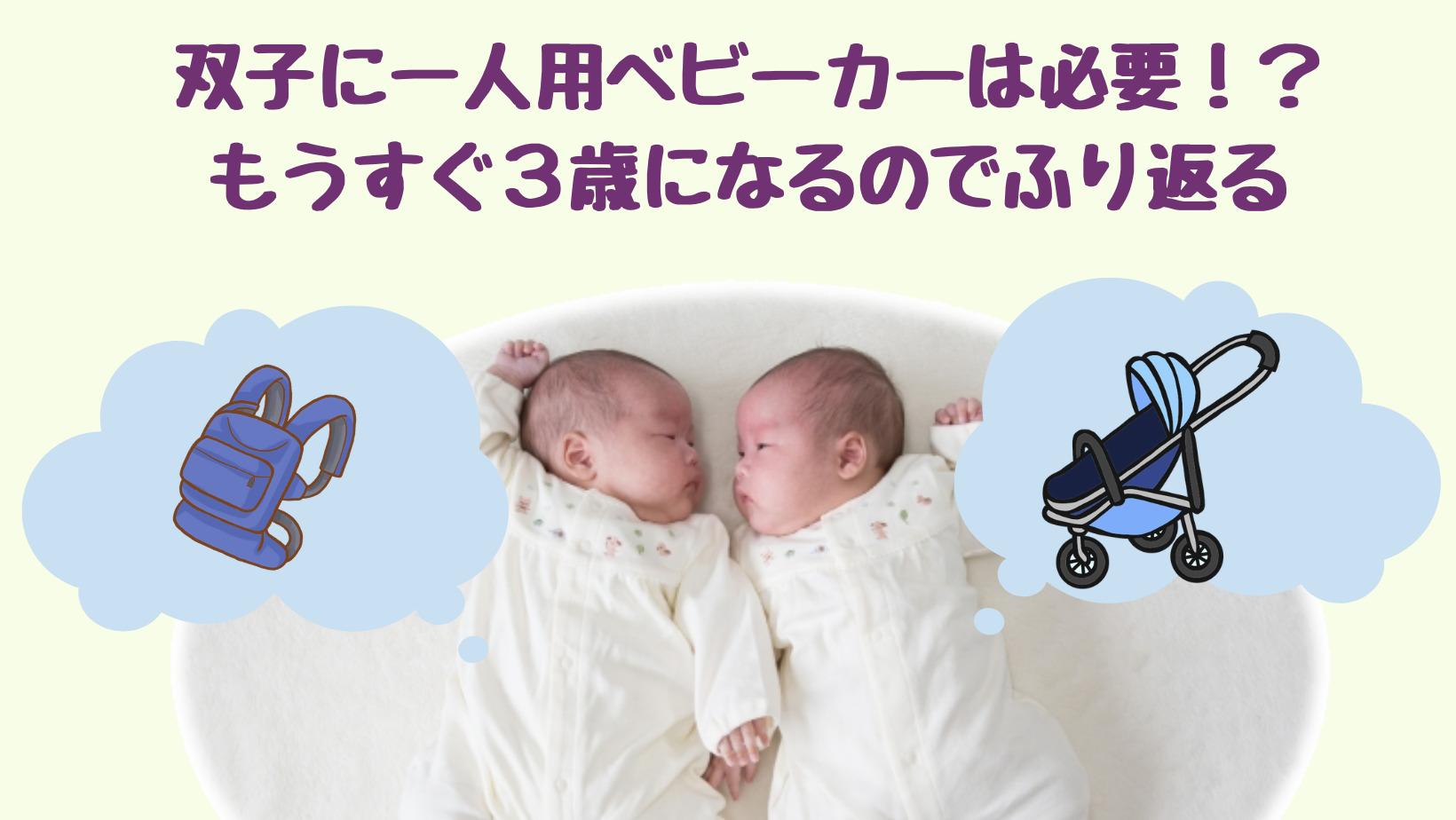双子に一人用ベビーカーは必要なのか