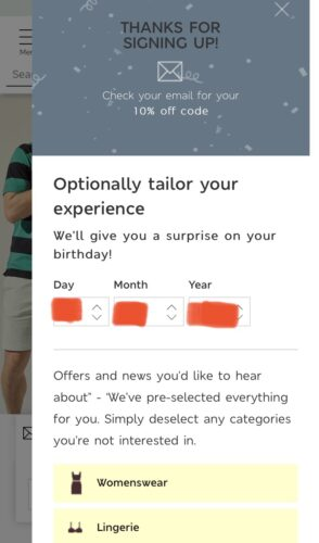 誕生日を入力