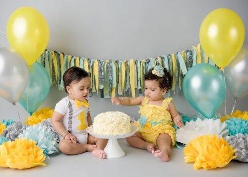 双子1歳の誕生日