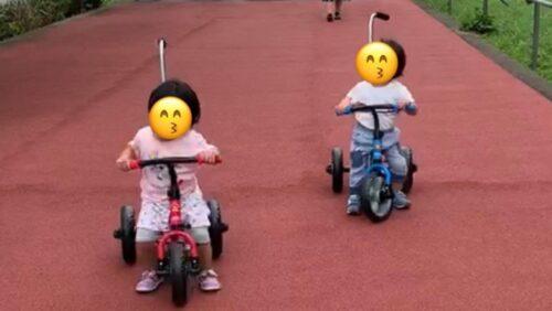 サンライダーで楽しく遊ぶ双子