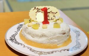 手作りした誕生日ケーキ