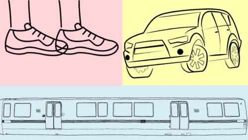 交通手段(徒歩・車・電車)
