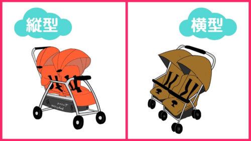 双子用ベビーカーの種類(縦型・横型)